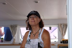Jo Hard At work In The Galley