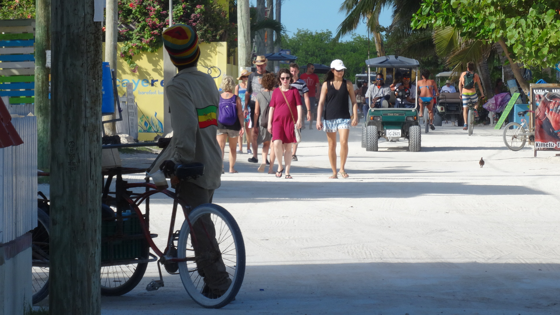 The Main Street Of Caye Caulker
