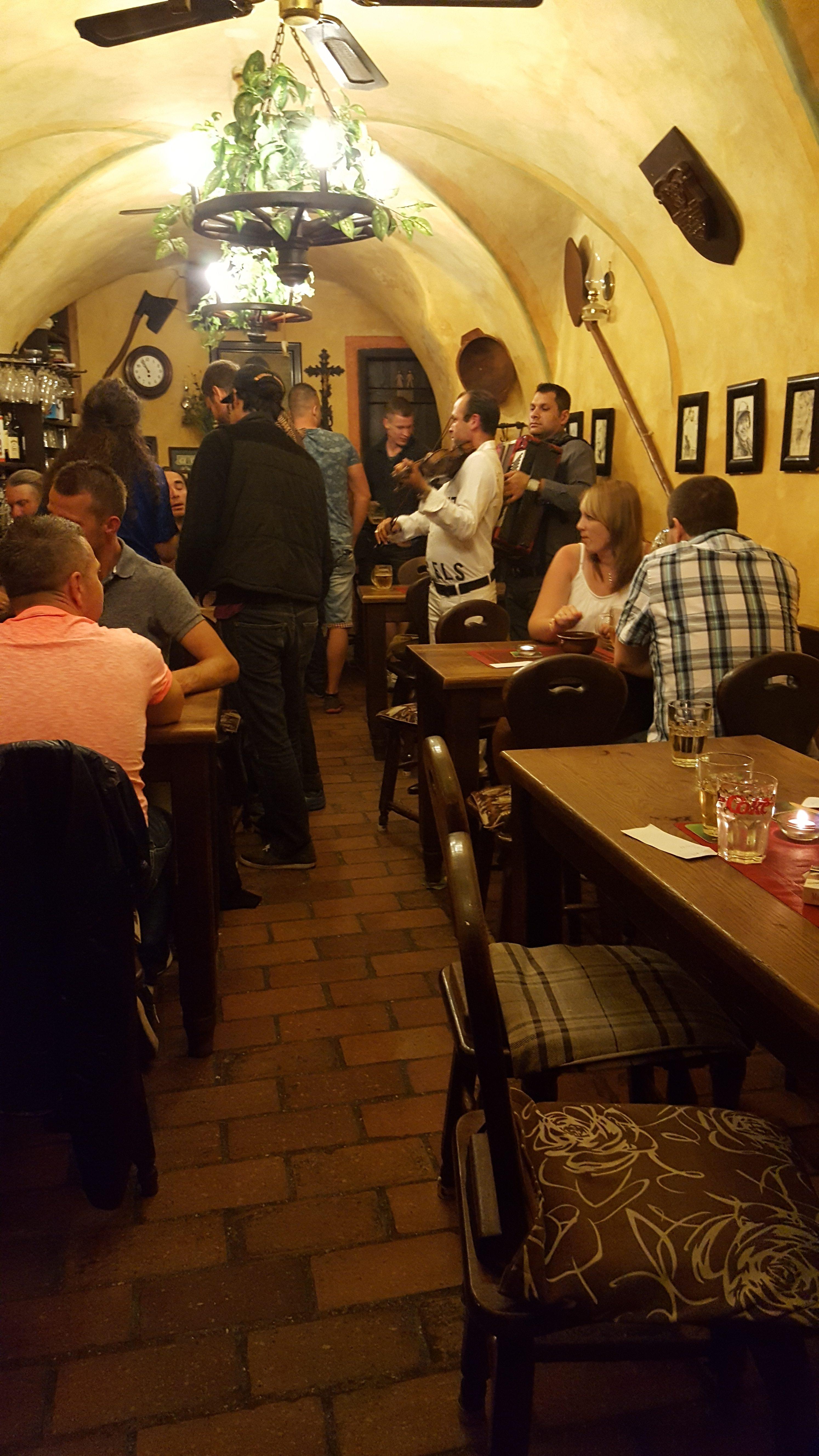 Gypsies Play In A Cellar Bar Cesky Krumlov
