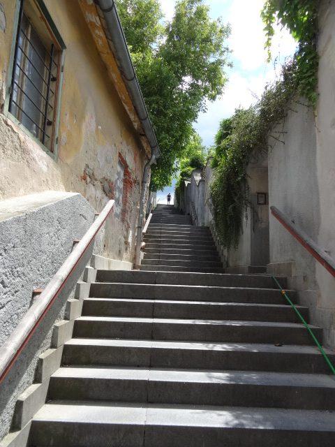 Climbing The Steps To Hostel Skippy