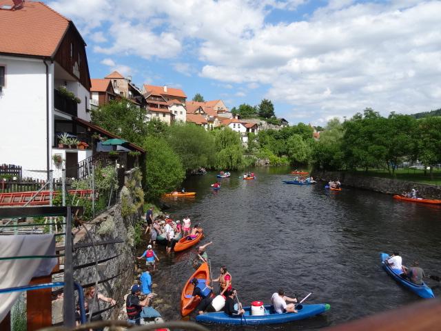 Kayaking on Vitava River Cesky Krumlov
