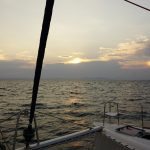 Sunset On The Aegean by yacht
