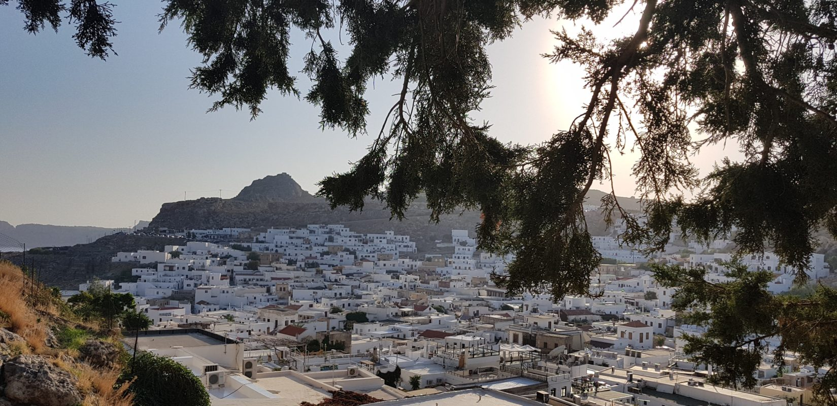 Lindos Village in the morning sun